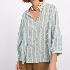 ❄ NWT Zara Embroidered Blouse ❄